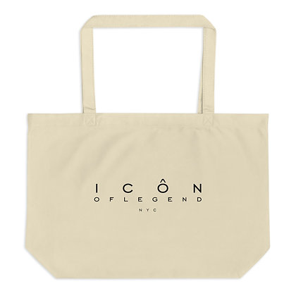 ICON OF LEGEND - Large organic tote bag