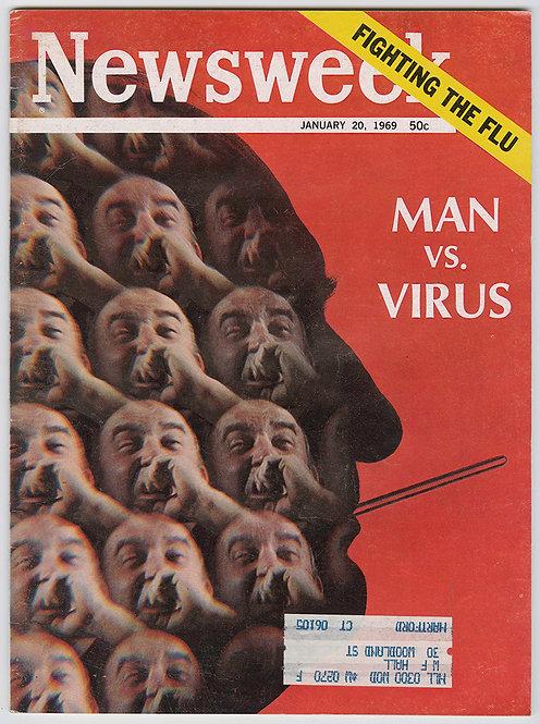 NEWSWEEK MAGAZINE - MAN VS VIRUS - 1969