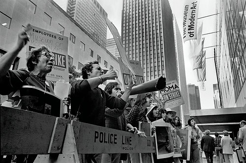 PROTESTERS - MoMA ON STRIKE - 3/4