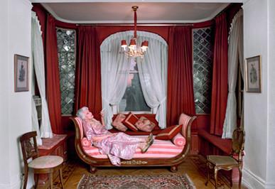 Ladie on Sofa - Henri Dauman - The Manhattan Darkroom
