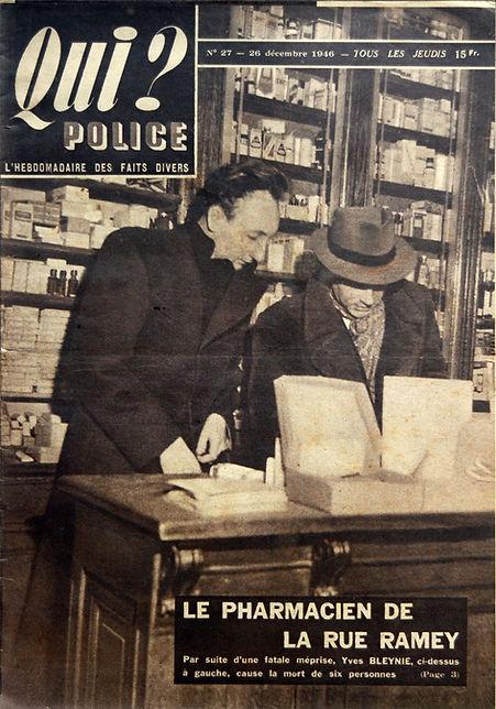 QUI? POLICE Vintage magazine