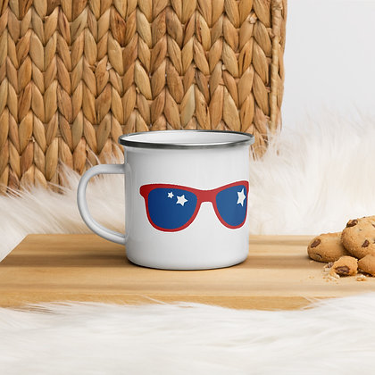 LIVING WITH POP ART - Enamel Mug