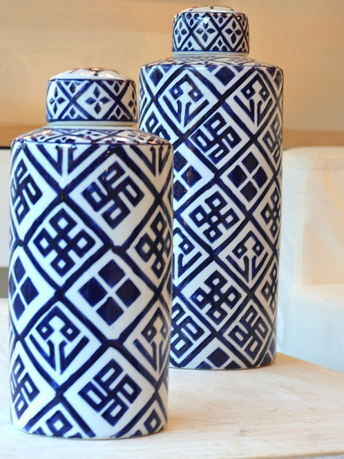 Ceramica Jarrón con Tapa