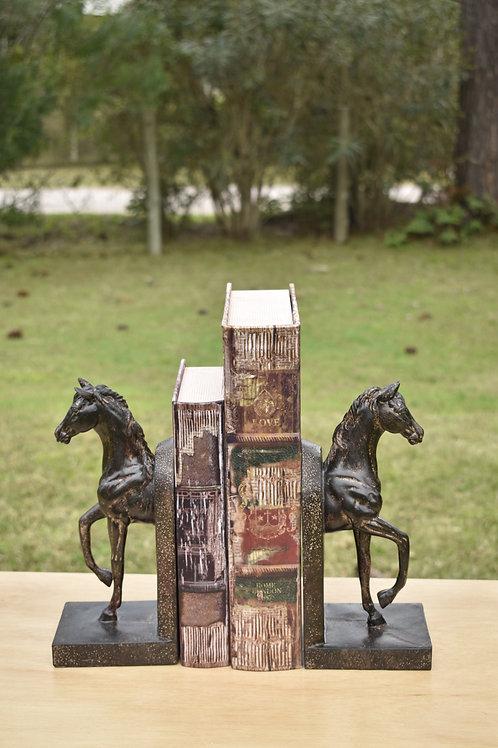 Portalibros caballo madera
