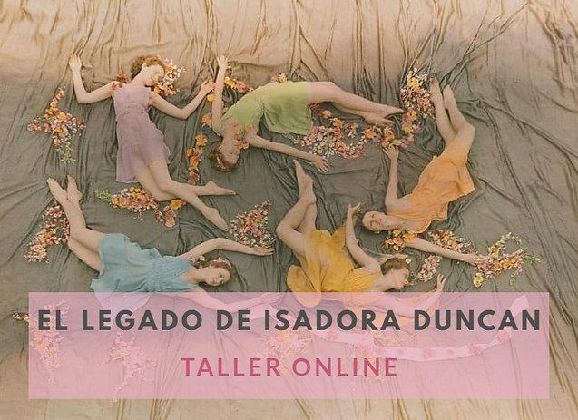 TALLER EL LEGADO DE ISADORA DUNCAN