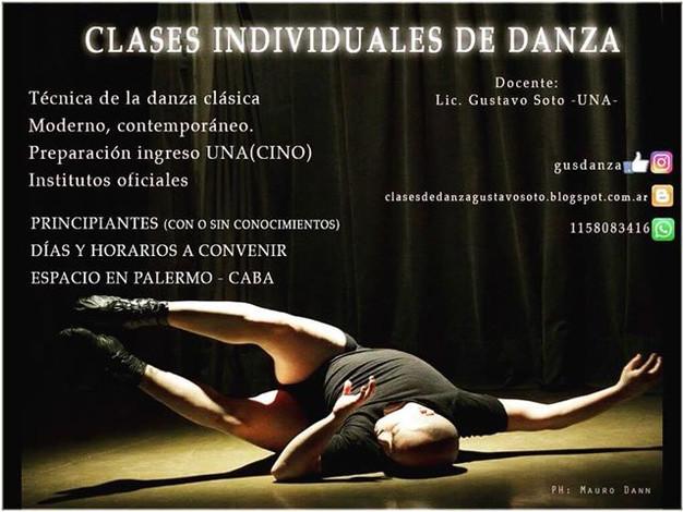 CLASES INDIVIDUALES DE DANZAS