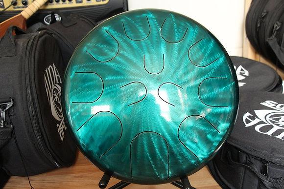 "16"" 23 Tone Ajna Tongue Drum Aqua Halo Major/Phryg"