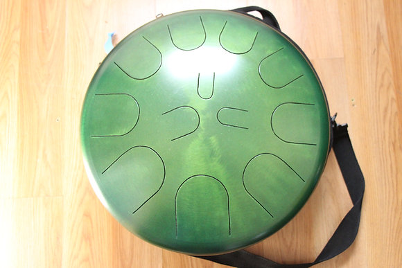 "16"" 23 Tone Ajna Steel Drum Double Sided Jade/Candy Lime Major/Dorian"
