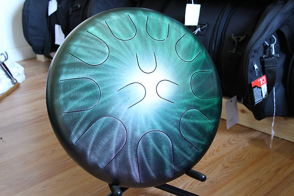 "16"" 23 Tone Ajna Tongue Drum Jade Halo Major/Phryg"