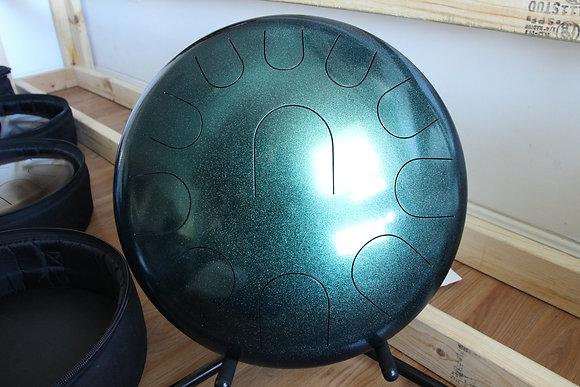 "16"" 11 Tone Ajna Drum Green Shimmer E Hijaz"