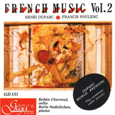 FRENCH MUSIC · VIOLONCELLO AND  PIANO