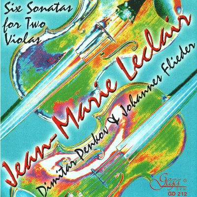JEAN-MARIE LECLAIR · SIX SONATAS FOR TWO VIOLAS