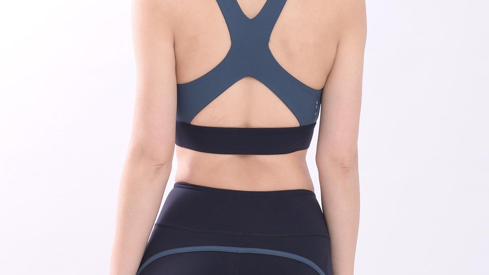 Blue moonstone cut out bra Top