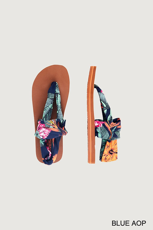Ditsy Wrap Sandals