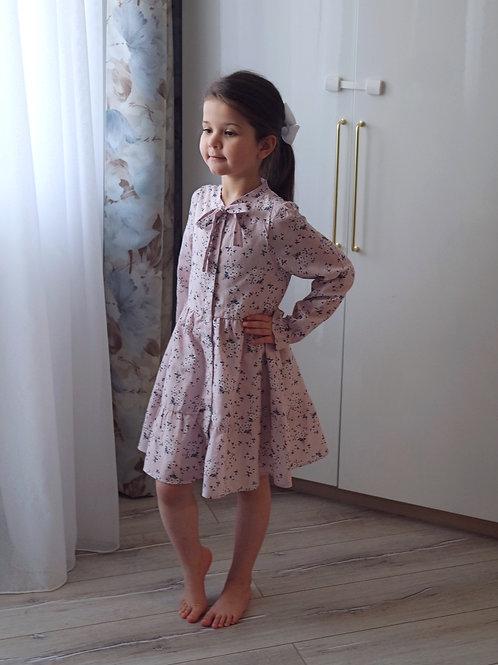 Платье Пепельно-розовое, с подкладкой