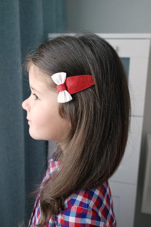 Заколка для волос Бантик на красном