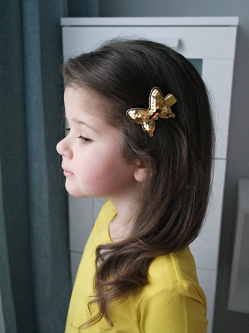 Заколка для волос Золотая бабочка