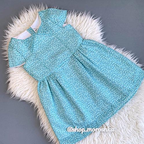 Платье Бирюза, с подкладкой