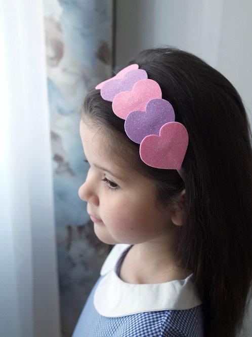 Обруч для волос Сердечки