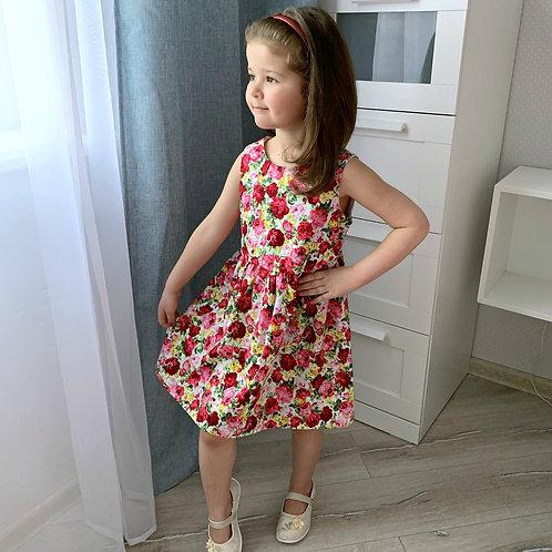 Платье Розы, без рукавов