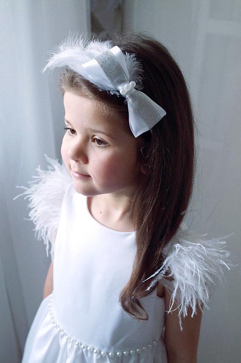 Ободок для волос Белый лебедь