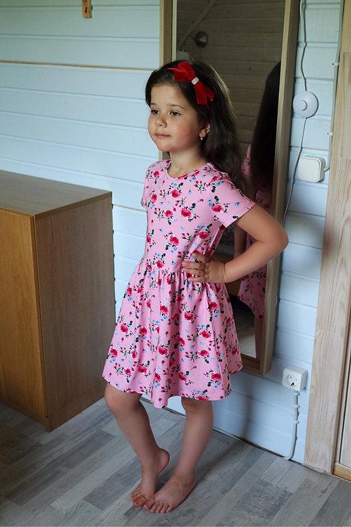 Платье Розовое, трикотажное