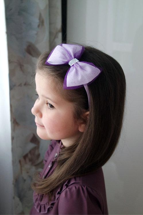Обруч для волос Фиолетовый бант