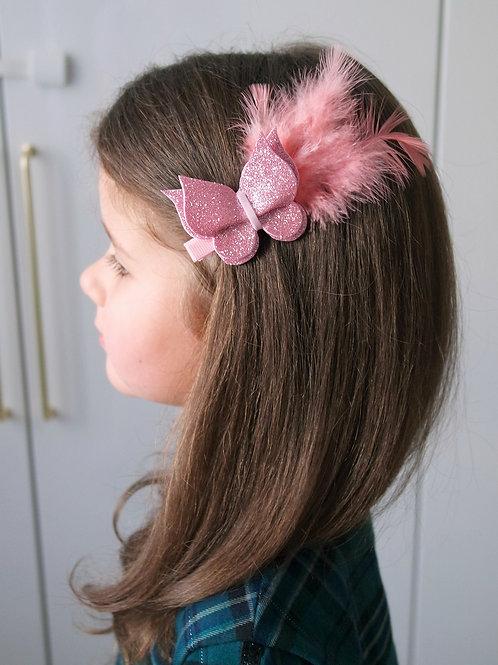Заколка для волос Пёрышко