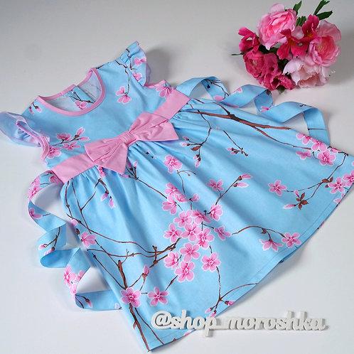 Платье Голубая сакура