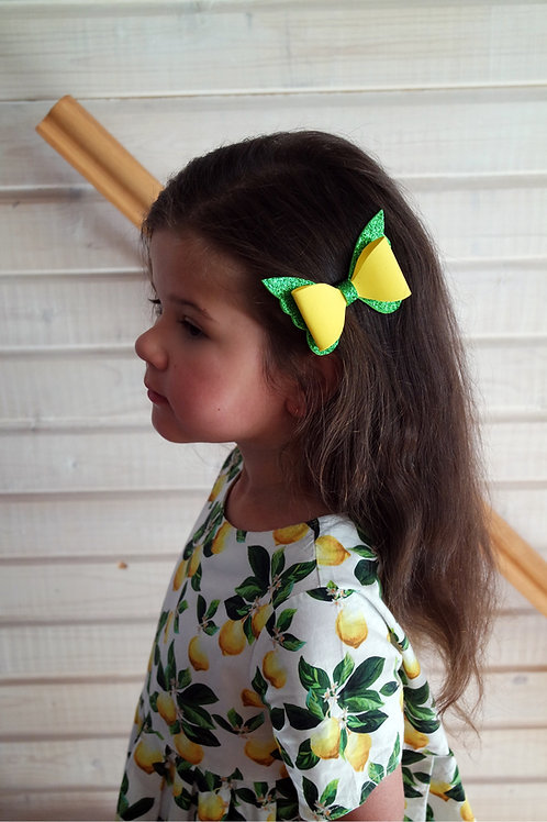 Заколка для волос Лимонная бабочка