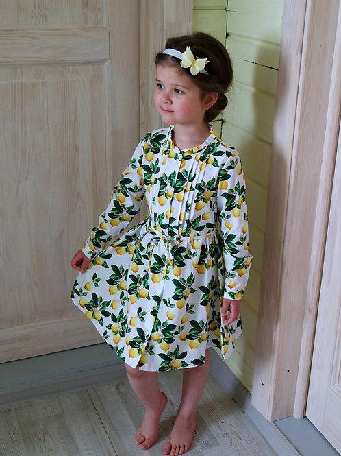 Платье-рубашка Лимоны