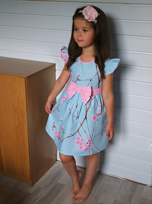 Платье Сакура на голубом