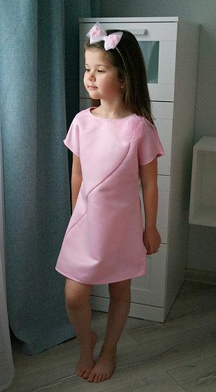 Платье Розовое, атласное