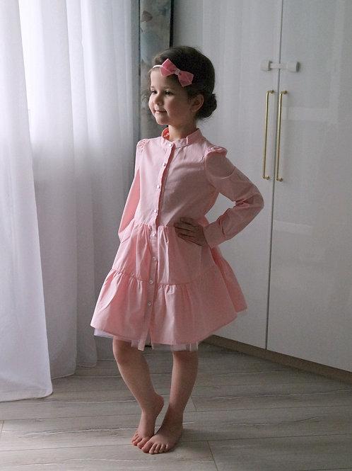 Платье Розовое, с подкладкой из фатина