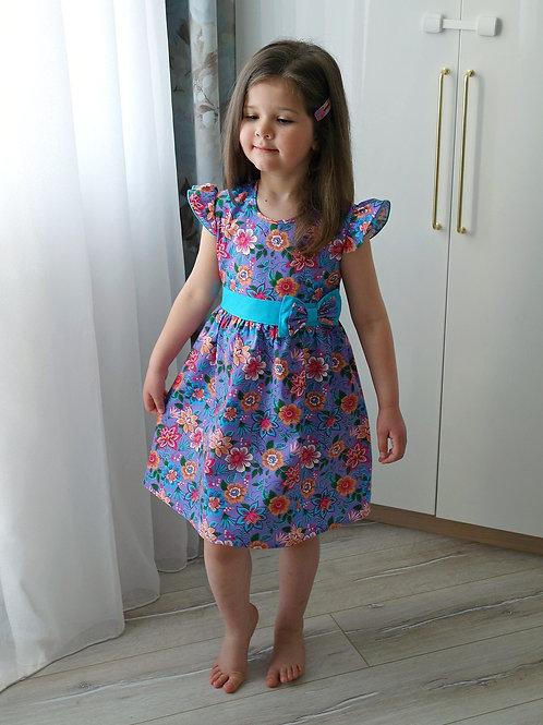 Платье Цветы на сиреневом