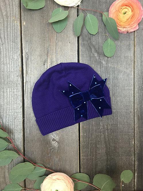 Шапка детская Бант, фиолетовая