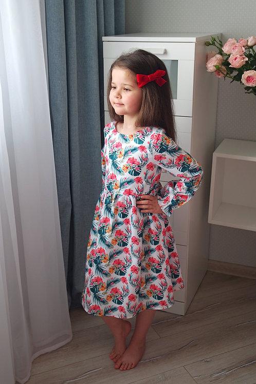 Нарядное платье Тропические цветы