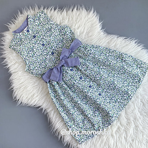 Платье Васильки, без рукавов