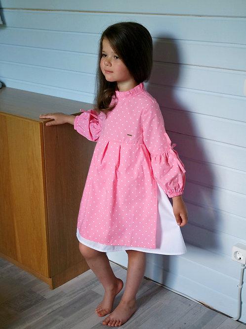 Платье Розовое, с двойной юбкой