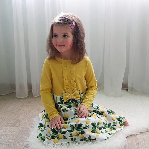 Платье Лимон, комбинированное