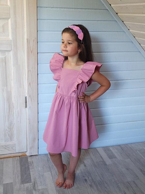 Платье Тёмно-розовое