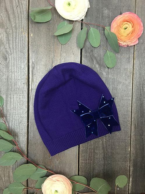 Шапка  Бант, фиолетовая