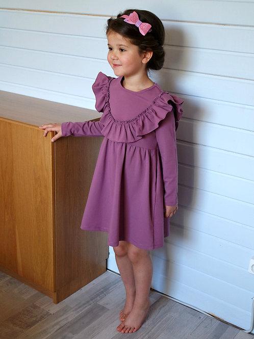 Платье Лиловое, трикотажное