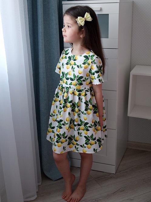 Платье Лимоны, короткий рукав