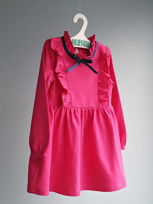 Платье трикотажное, Малина