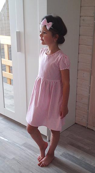 Платье Розовое в полосочку