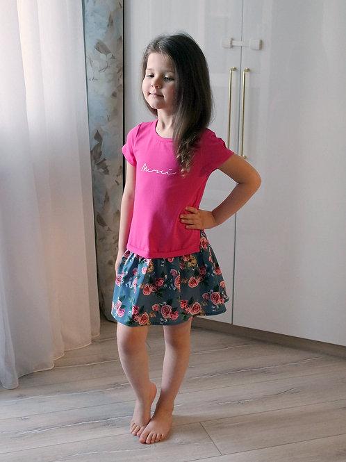 Платье Малиновое, короткий рукав