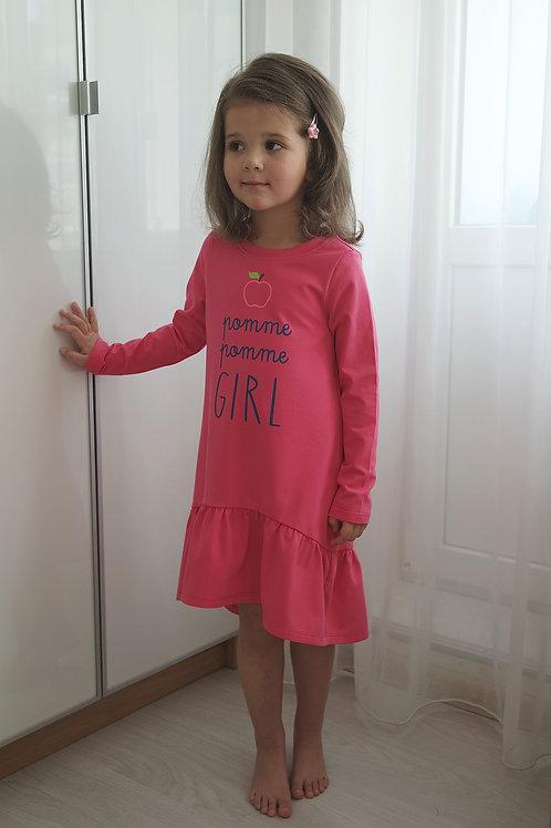 Платье малиновое, трикотажное