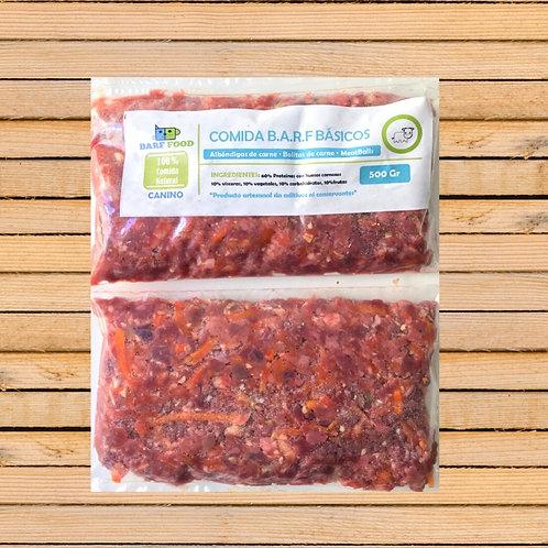 Alimento BARF - sabor a carne (500 gramos)