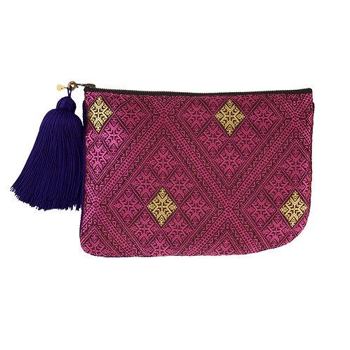 スムスム モロッコ・テキスタイルのポーチ ポシェタ